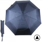 Зонт муж F 308SL,  R=56см,  полуавт;  8спиц-сталь+fiber;  3слож;  полиэстер,  синий 190608