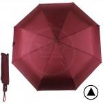 Зонт женский F 308SL,  R=56см,  полуавт;  8спиц-сталь+fiber;  3слож;  полиэстер,  бордовый 190611