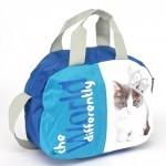 Сумка молодежная SilverTop-3280 Галактика,    1отд,    плечевой ремень,    синий/голубой,    котенок