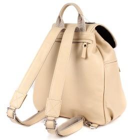 Сумка женская натуральная кожа Варвара-390   (рюкзак) ,    1отд,    2внут+2внеш карм,    бежевый флотер   (4235)
