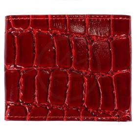 Портмоне женское Premier-М-502 натуральная кожа 1 отд,    4 карм,    красный крокодил крупный   (4)