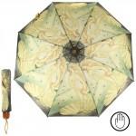 Зонт женский TR-3803SА,    R=56см,    механ;    8спиц-сталь+fiber;    3слож;    полиэстер,       (картина)    желтый