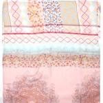 Палантин 80*180см полиэстер 100%,    плетение хлопок,    рис 230-176,    розовый/голубой