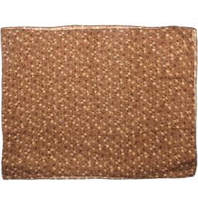 Палантин 80*180см полиэстер 100%,    плетение хлопок,    рис цветочки,    коричневый