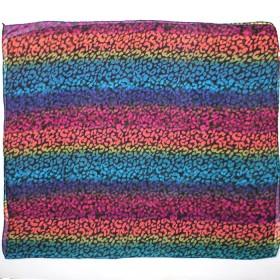 Палантин 80*180см полиэстер 100%,    плетение хлопок,    рис animal,    радуга