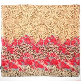 Палантин 80*180см полиэстер 100%,    плетение хлопок,    рис 230-197,    бежевый