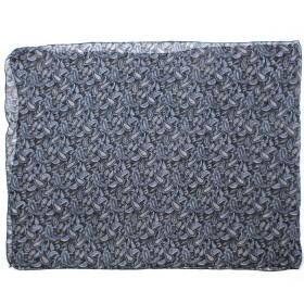 Палантин 80*180см полиэстер 100%,    плетение хлопок,    рис огурцы,    черный