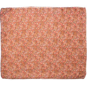 Палантин 80*180см полиэстер 100%,    плетение хлопок,    рис огурцы,    коричневый