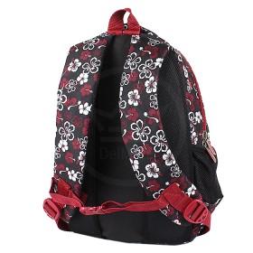 Рюкзак Арлион-373А,    эргоном спинка,    2отд,    3внеш карм,    черный/белый    (цветы)