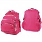 Рюкзак-ЗФТС-4902    (Жатка) ,    молодеж/уплотн спинка,    2отд+перег,    2внут+4внеш карм,    розовый