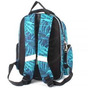 Рюкзак Rise-м-352,  школьный,  эргоном.спинка,  2отд,  2внут+3внеш карм,  зеленый  (панда)  193657