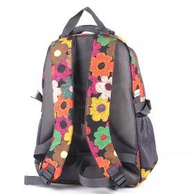 Рюкзак Rise-м-330,  молодежный,  эргоном.спинка,  2отд,  3внеш карм,  радуга  (цветы)  193668