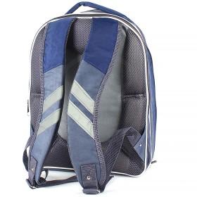 "Рюкзак Rinax-""Кристалл"",  эргоном спинка,  2отд+2перег,  1внеш карм,  синий/серый (машина)  193790"