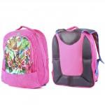 """Рюкзак Rinax-""""  Кристалл"""" ,    эргоном спинка,    2отд+2перег,    1внеш карм,    розовый   (цветы и бабочки)"""