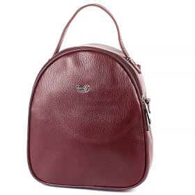 Сумка женская натуральная кожа Варвара-598-3 (рюкзак),  1отд,  бордо флотер (4259)  193901