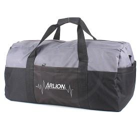 Сумка дорожная Арлион-462,    б/подклада,    жесткое дно,    3внеш карм,    плечевой ремень,    черный/серый