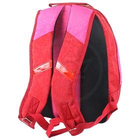 Рюкзак Shveika-74 Б,  эргоном спинка,  2отд,  4 внут карм,  молн 10,  красный/розовый,  кошечка 194084