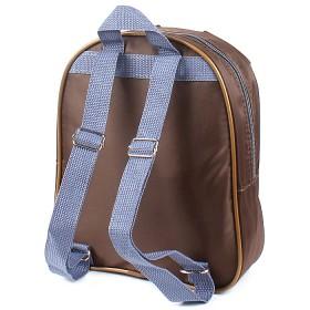 Рюкзак детский Silver Top-1041 Кроха прост спинка/бегемотик,  коричневый 194584