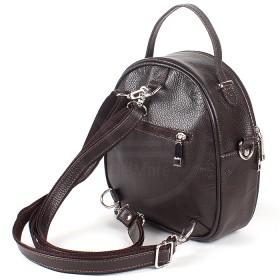 Сумка женская натуральная кожа Варвара-598-3 (рюкзак),  1отд,  коричневый флотер (4174)  194986