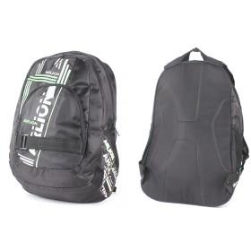 Рюкзак муж Арлион-610 уплотн спинка,    1отд+перег,    3внеш карм,    черн/зелен/белый