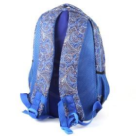 Рюкзак Арлион-371 эргоном спинка,    2отд,    1внут+3внеш карм,    синий    (узор)