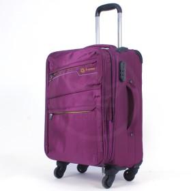 "Чемодан 20"" OS 1576  (20""-48/55л)  4колеса,  увеличивающий объем,  полиэстер 600 ден,  пурпур 195416"