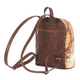 Сумка женская искусственная кожа ADEL-45   (рюкзак) ,    1отдел,    рыжий змея