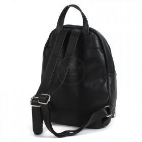 Сумка женская искусственная кожа DJ-5637-4-BLACK,       (рюкзак) ,    1отд,    1внут+1внеш карм,    черный SALE