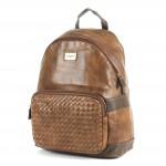 Сумка женская искуственная кожа DJ-5664-3-D.BROWN,       (рюкзак) ,    1отд,    1внут+1внеш карм,    коричневый SALE