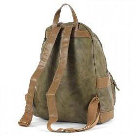 Сумка женская искуственная кожа DJ-5664-3-KHAKI,       (рюкзак) ,    1отд,    1внут+1внеш карм,    хаки SALE