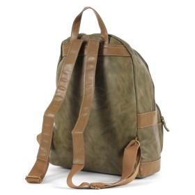 Сумка женская искуственная кожа DJ-5664-3-D.CAMEL,       (рюкзак) ,    1отд,    1внут+1внеш карм,    кофе SALE