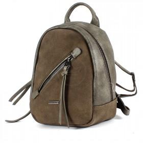 Сумка женская искусственная кожа DJ-5656-3-d.khaki,       (рюкзак) ,    1отд,    2внут+1внеш карм,    хаки