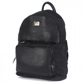 Сумка женская иск/кожа+текстиль DJ-CM 3584-black  (рюкзак),  1отд,  2внут+2внеш карм,   (УЦЕНКА мохрятся ручки)  черный SALE 199187