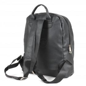 Сумка женская искусственная кожа DJ-CM 3619-black,       (рюкзак) ,    1отд,    2внут+1внеш карм,    черный SALE