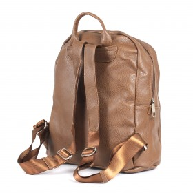 Сумка женская искуственная кожа DJ-CM 3619-d.brown,       (рюкзак) ,    1отд,    2внут+1внеш карм,    коричневый SALE