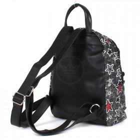 Сумка женская текстиль DJ-CM 3637-black grey,    1отд,    2внут+1внеш карм,    серый