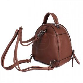Сумка женская искусственная кожа BT-L 0655  (рюкзак-мини),  1отд,  1внут+1внеш карм,  коричневый 199643