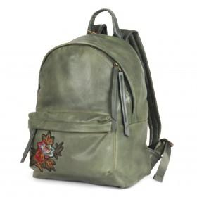 Сумка женская искусственная кожа BT-L 28412-green (рюкзак),  1отд,  2внут+1внеш карм,  зеленый 199659
