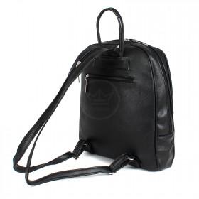 Сумка женская искусственная кожа Дила-002    (рюкзак) ,    1отд,    3внут+2внеш карм,    черный