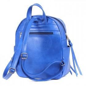 Сумка женская иск/кожа+текстиль ADEL-58/ММ    (рюкзак) ,    1отдел+карм/пер,    синий adventure