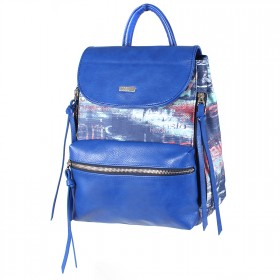 Сумка женская иск/кожа+текстиль ADEL-74/ММ   (рюкзак) ,    1отд,    синий adventure