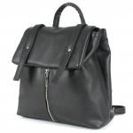 Сумка женская искусственная кожа GR-1136    (рюкзак) ,    2отд,    2внут+2внеш карм,    черный