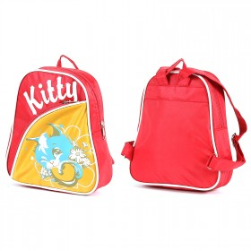 Рюкзак детский Silver Top-1040 Кроха прост спинка/Kitty,  коралл/желтый,  котенок 200391