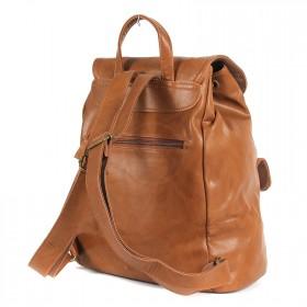Сумка женская искуственная кожа DJ-CM 3614-BROWN,       (рюкзак) ,    1отд,    2внут+2внеш карм,    коричневый SALE
