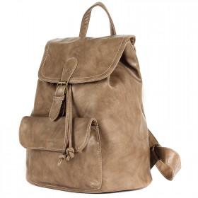 Сумка женская искуственная кожа DJ-CM 3614-D.CAMEL,       (рюкзак) ,    1отд,    2внут+2внеш карм,    бежевый SALE