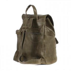Сумка женская искуственная кожа DJ-CM 3614-KHAKI,       (рюкзак) ,    1отд,    2внут+2внеш карм,    хаки SALE
