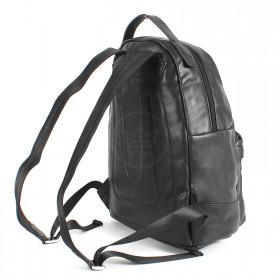 Сумка мужская искусственная кожа DJ-CM 3634-BLACK,       (рюкзак) ,    1отд,    2внут+2внеш карм,    черный SALE