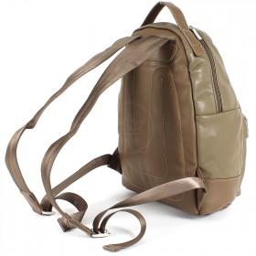Сумка женская искусственная кожа DJ-CM 3634-KHAKI,       (рюкзак) ,    1отд,    2внут+2внеш карм,    хаки
