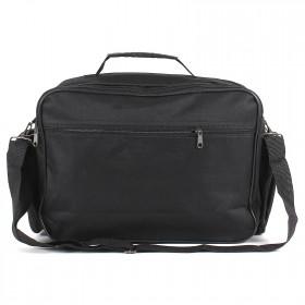 Сумка мужская текстиль Дизайн-Менеджер    (П-600) ,    3отд,    плечевой ремень,    4внеш карм,    черный