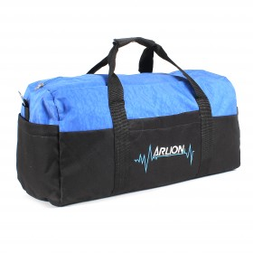 Сумка дорожная Арлион-462,    б/подклада,    жесткое дно,    3внеш карм,    плечевой ремень,    черный/синий